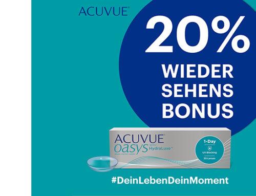 ACUVUE OASYS® 1-Day Kontaktlinsen 20% günstiger